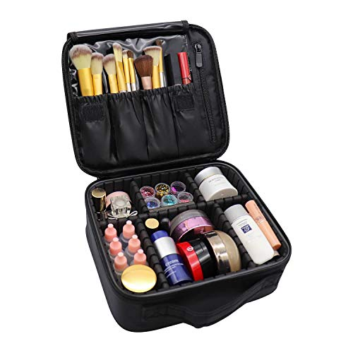 Rolybag Travel Makeup Case Portable Organizer Cosmetic Case With Adjustable Dividers Big Capacit ...