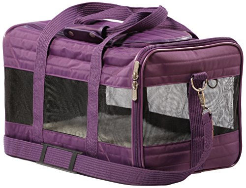 Sherpa Travel Original Deluxe Airline Approved Pet Carrier, Plum, Medium (Frustration Free Packa ...