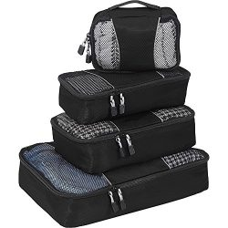 eBags Classic Small/Medium Packing Cubes for Travel – Organizers – 4pc Set – ( ...