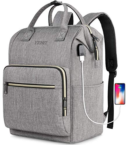 Travel Laptop Backpack for Women,Rfid Anti Theft Durable Stylish Casual Backpack with USB Chargi ...