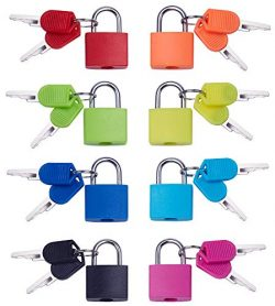 Key Lock(8 Pack) Mini Padlock with Key Home & School Essentials for Luggage Lock, Backpack,G ...
