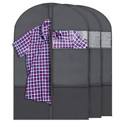 Plixio Garment Bags for Kids Dance Costumes with Transparent Window and Zippered Mesh Pockets fo ...