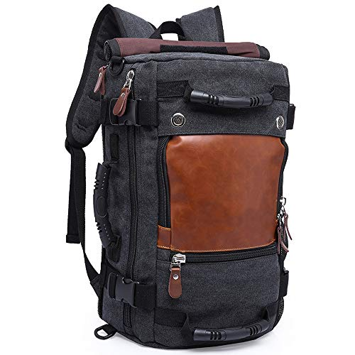 """KAKA Travel Duffle Backpack Convertible Carry-On Bag fit 15.6"""" Laptop Black"""