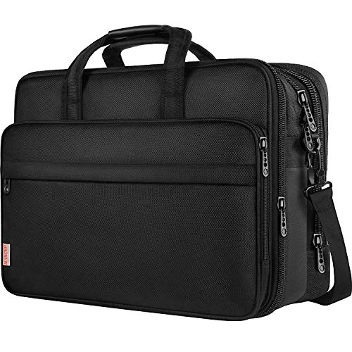 18.4 inch Laptop Bag, Extra Large Briefcase for Men Women, Travel Business Laptop Shoulder Bags, ...